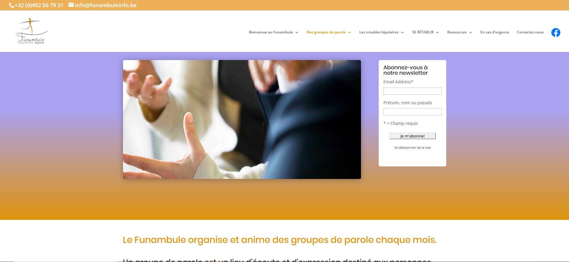 site web funambuleinfo.be