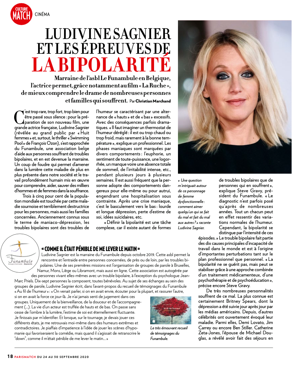Article de Paris Match sur Ludivine Sagnier et Le Funambule-1